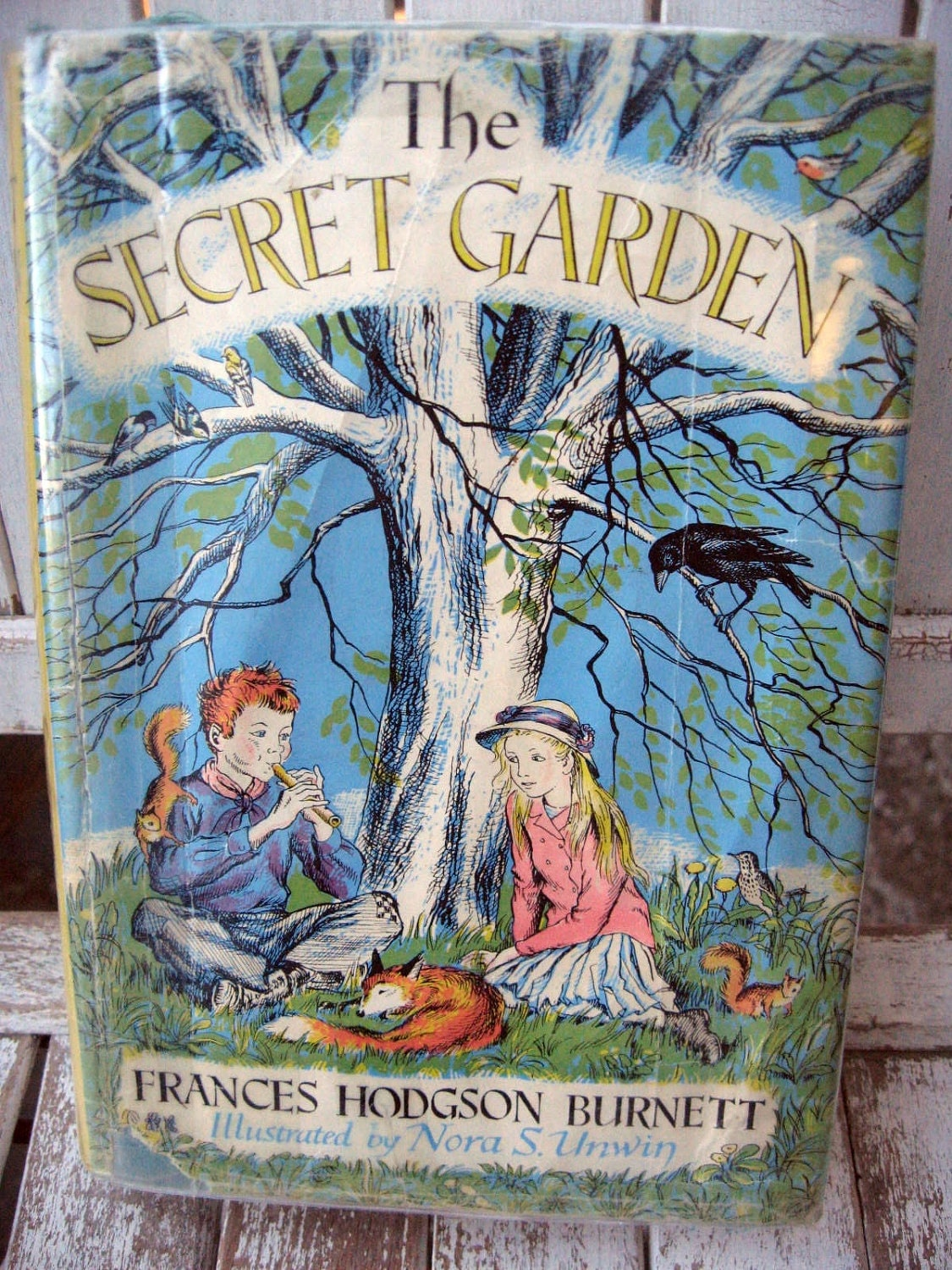 Children S Book Blue Cover : Vintage children s book classic the secret garden by