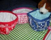Portable pet Food/Water Bowl - Pink Gingham