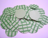 Green Hand Punch Circles 100 PCS For Scrapbooking and Card making