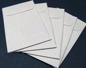 25 Mini Business Card White Envelopes