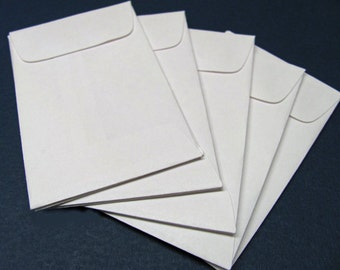 25 Mini Business Card White Envelopes