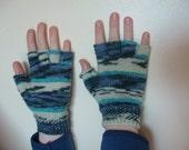 Blue Ladies Fingerless