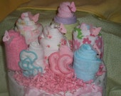 NEW Sweet Flower Clothing  Bouquet  Diaper Cake Wonderful and Original Baby Gift