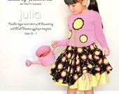 NEW Modkid Julia Double Layer Twirl Skirt and Mod Blooms Applique template sewing pattern by Patty Young, FREE SHIPPING with any other purchase