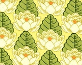 Amy Butler Lotus Pond fabric in Yellow, Lotus collection, 1/2 yard
