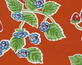 Oilcloth, Forever Strawberries in Red, 1 yard