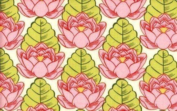 Amy Butler Lotus Pond fabric in Pink, Lotus collection, 1/2 yard