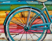 "Bicycle - Bike- Seat - ""Life Cycles"" - Fine Art Print - 8x10"