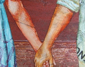 """Couple Holding Hands, """"Two Lovers Entwined Passed Me By"""",  Fine Art Print , All sizes"""
