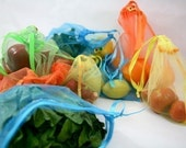 Produce bags Reusable colorful Tropical Sunset FULL set