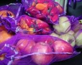 Reusable Produce bag set Purple passion 7 various sizes