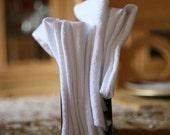 Everyday NAPKINS Eco alternative to paper Set of 22 REUSABLE NAPKINS white regular size