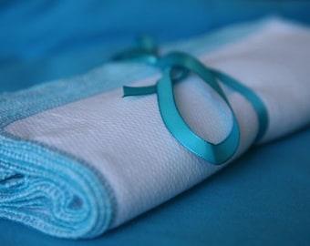 12 Turquoise  Napkins towels unpaper Reusable must have