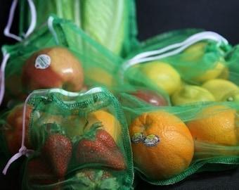 12 Corded Giant Green set reusable produce bag Eco fabulous  GO green