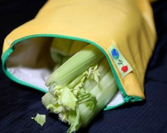 X Long Celery bag Reusable zipper storage