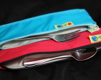 Zipper Utensil bag Lunchbox reusable storage pouch
