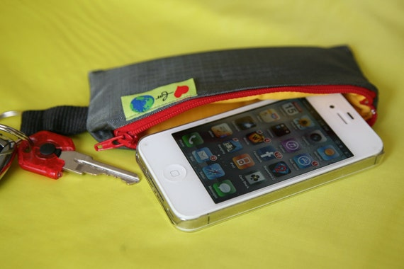 Cell phone Water protectant Bag and Key chain Padded custom iPhone case