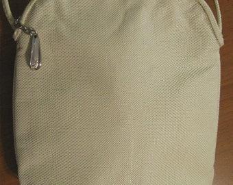 Vintage Donald J Pliner Cream Leather Cross Body Bag Purse Handbag