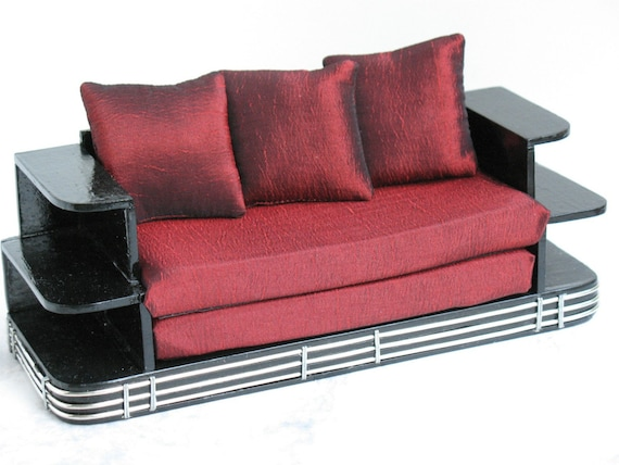 Paul Frankl Sofa ~ Paul frankl inspired art deco sofa by minibydesign on etsy
