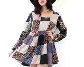 Vintage Penny Lane Patchwork Babydoll Dress