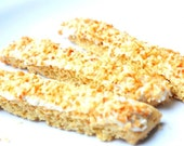 1 Dozen Organic Whole Grain Wheat Toasted Coconut Biscotti by Buon Cibo