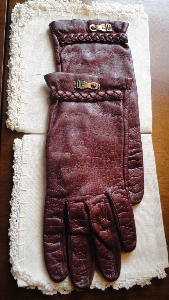 Vintage Italian Leather Driving Gloves