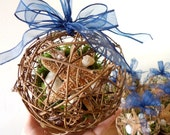 Beach Wedding Aisle Decoration - Starfish Pomander Kissing Ball/ Pomander - Set of six