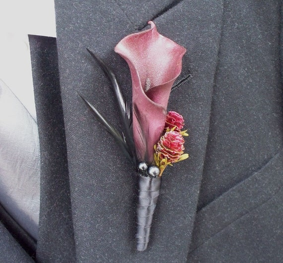 halloween zombie prom gothic boutonniere by aprilhilerdesigns