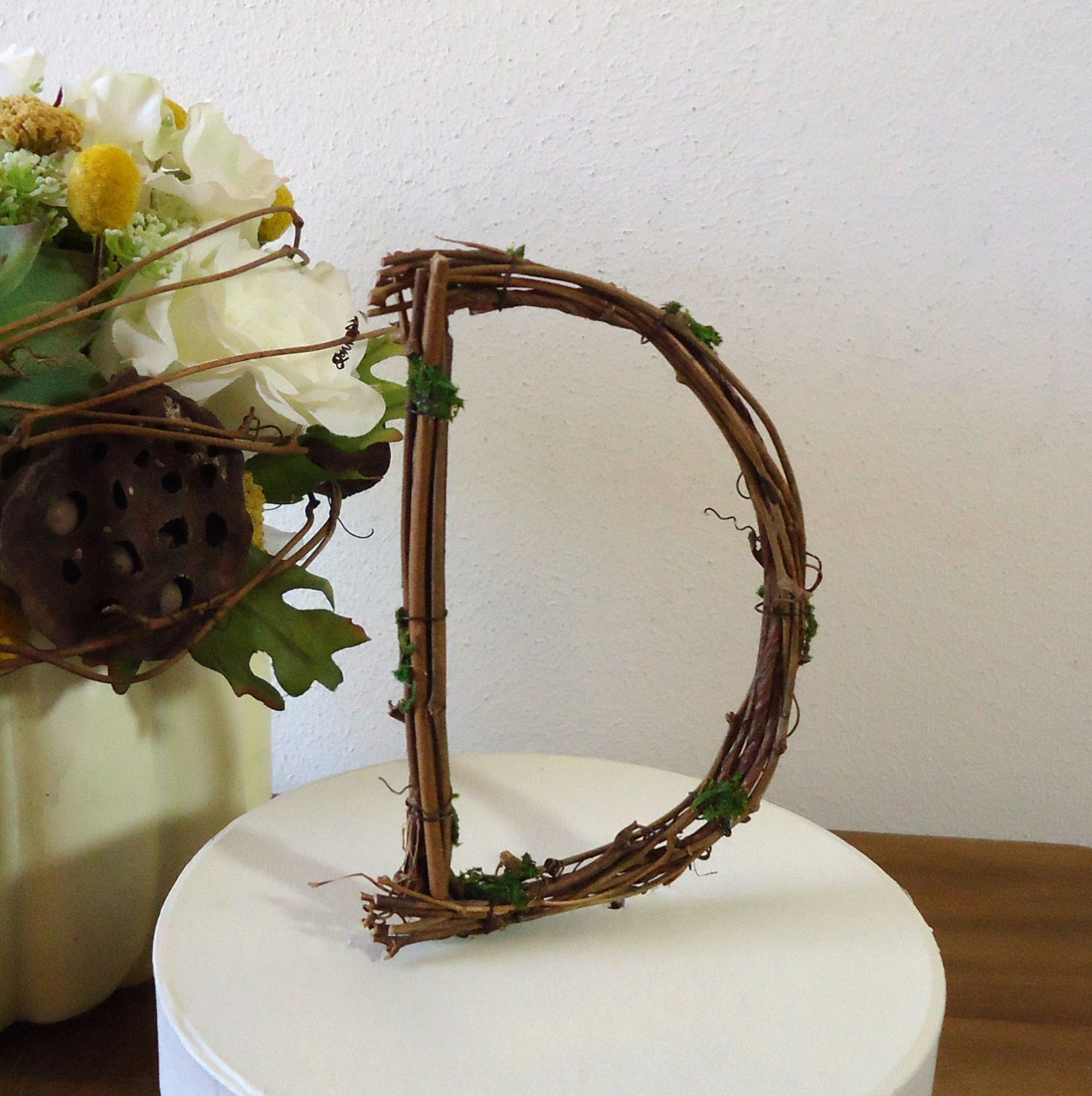 Wedding Cake Topper 4 Rustic Personalized Grapevine