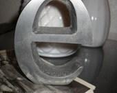 Lower Case Letter E Monogram Metal