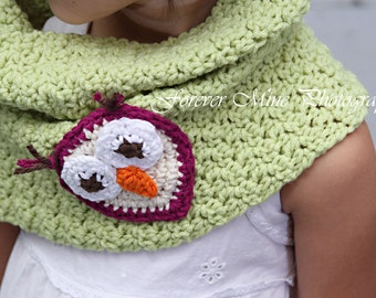 Little Miss Frilly  Crochet Owl Cowl