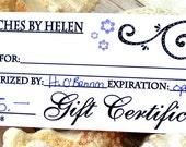 Gift Cerificate, 55 Dollar