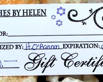 Gift Certificate, 20 Dollar