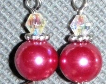 Princess Pink Pearl Earrings