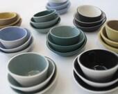 White and Black Mini Bowls