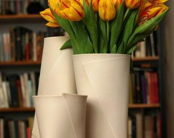 Fifty Percent Off Seconds - Large Folded V Vase