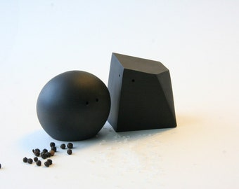 Fifty Percent Off Seconds - Salt and Pepper Shakers (Black and Black)