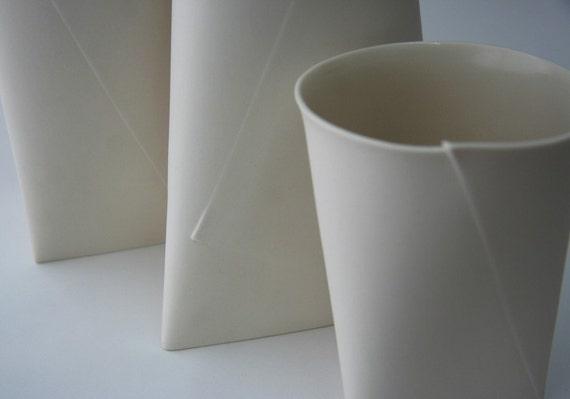 Fifty Percent Off Seconds - Medium Folded V Vase