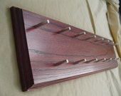 Oak Necklace Hanger with Red Mahogany Finish