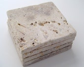 Natural Travertine Coaster Set (4 piece)