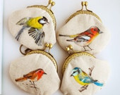Garden bird Hand painted Vintage Purse (made to order)