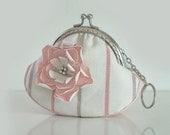 Pink Rose Love Purse (Metal Frame )