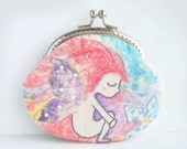 Vintage Embroidery fairy Purse (Metal Frame, My Own Design )