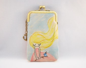 iPhone Case gadget case/Glasses Case - Fairy In the Wind Vintage Embroidery ( iPhone 7, iPhone 7 Plus, Samsung Galaxy S7 etc.)