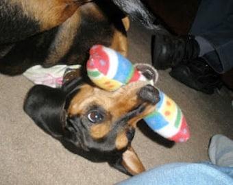 Hubby Stuffed BIRTHDAY BONE Squeaker toy - choose size - S M L