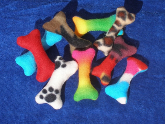 RESERVED - 16 Hubby Stuffed DOG or CAT Bone Toys - small