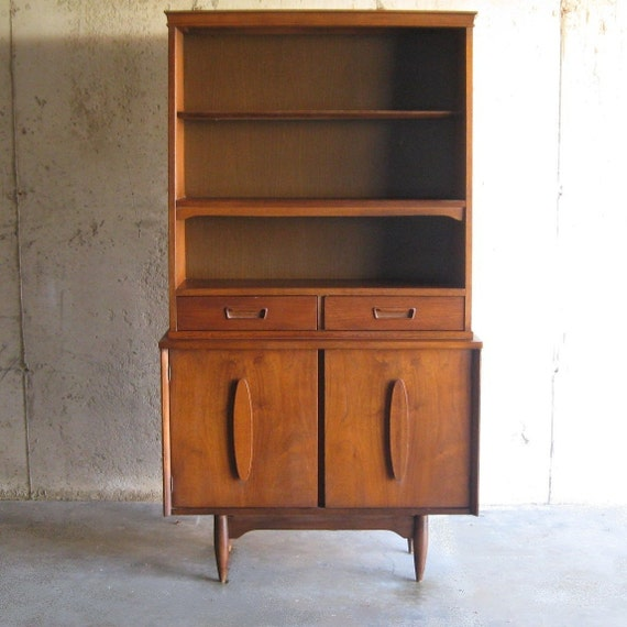 circa 1960s DANISH MODERN HUTCH with sculptural handles
