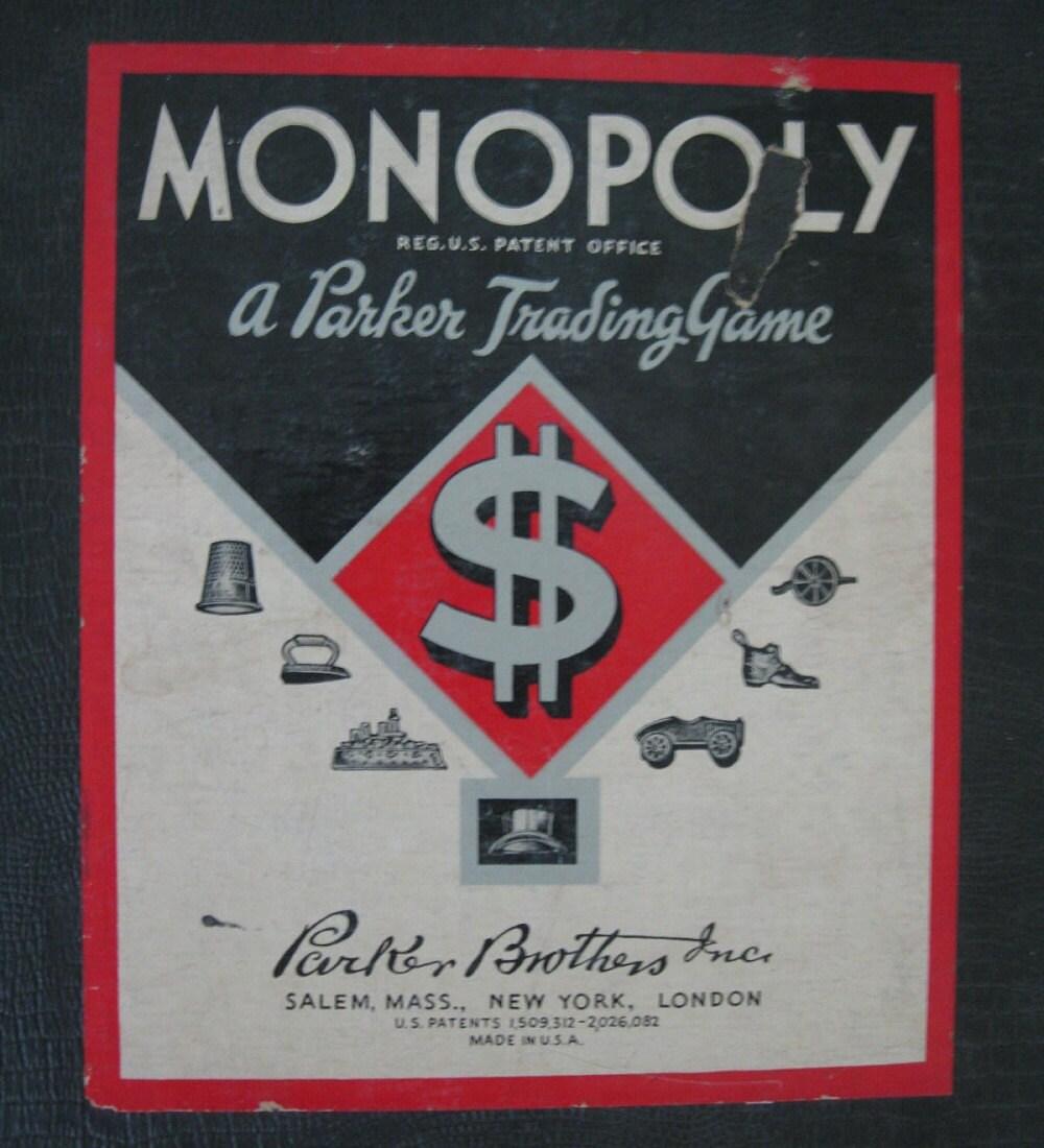 Edition Diamond: Circa 1930s MONOPOLY Black Diamond Edition BOARD By