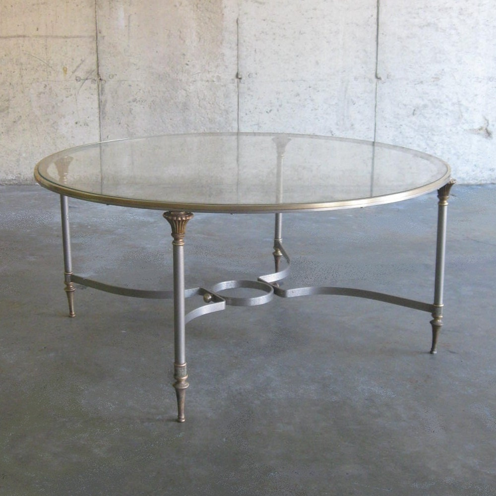 Items Similar To MARBLE And COPPER 50s COFFEE Table On Etsy