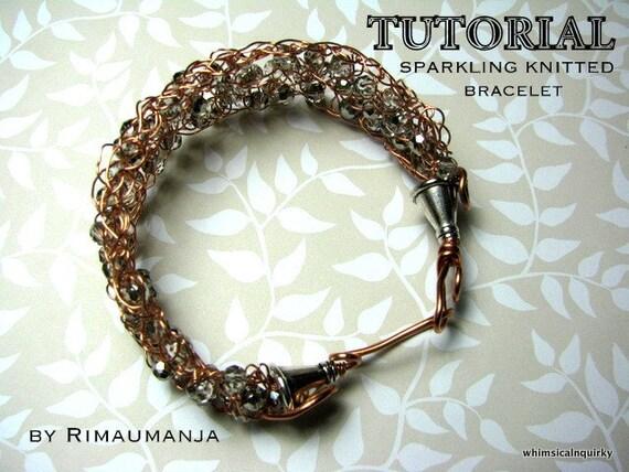 Sparkling Knitted Bracelet Tutorial